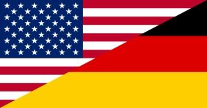 USA vs Germany flags
