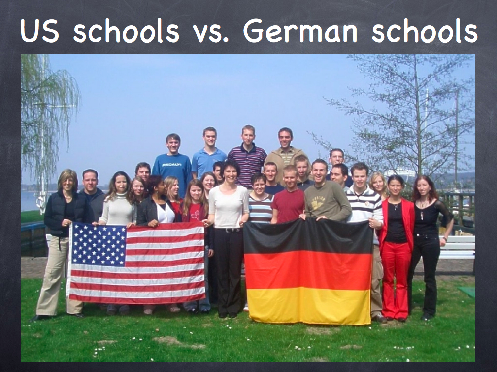 german school system vs us school Pupils attend school between nine and 13 years in germany, after which many  opt to enter the dual training system.