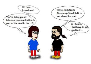 German and American talking